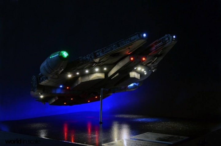 "STAR WARS ""Millennium Falcon"" - 1/72 by Fine Molds / Revell, LEDs & mehr 640"