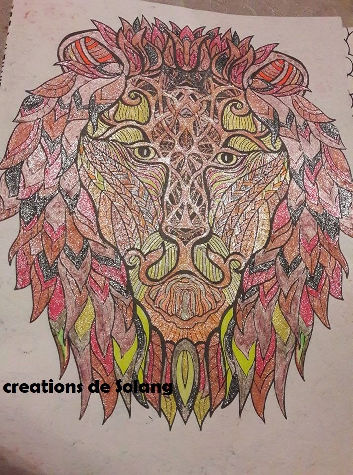 Dessin et coloriage anti-stress Lion12