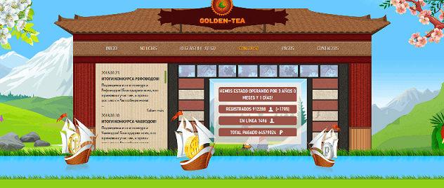 """Golden-Tea - Gana bitcoins """"plantando arboles de Té"""" Golden10"""