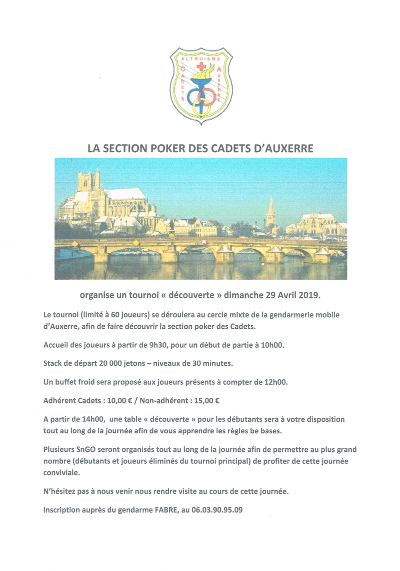TOURNOI DECOUVERTE SECTION POKER DES CADETS DU DIMANCHE 29 AVRIL 2018 Affich10