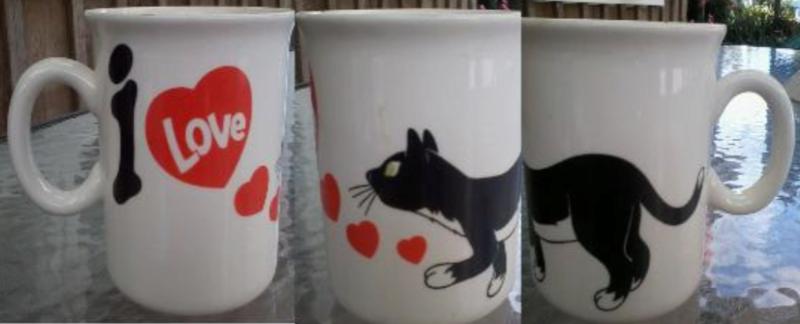I love cats mug pattern Cat_210