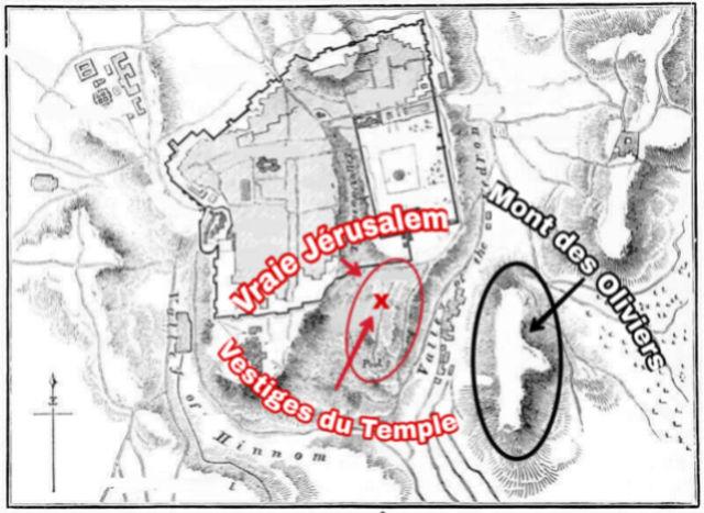 Mont des Oliviers confirme la Vraie localisation du Temple Picsar25