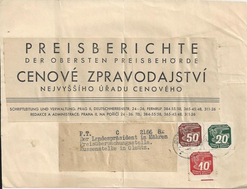 Zeitungsmarken Böhmen & Mähren Bild94