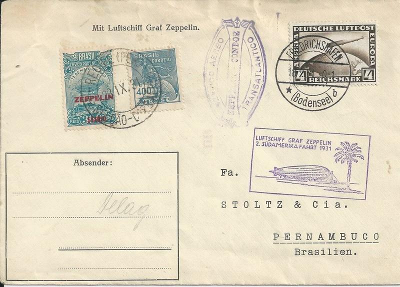 Zeppelinpost aus Brasilien Bild95