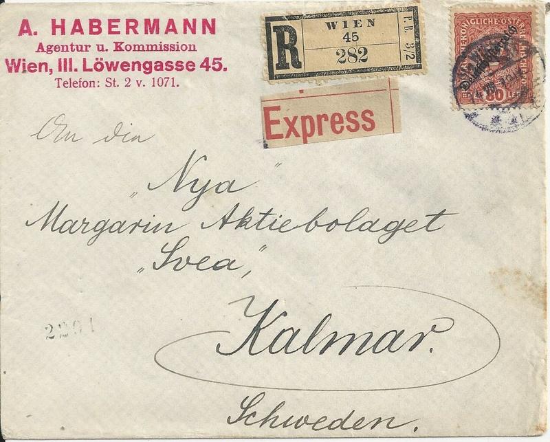 Die Auslandsexpreßgebühr ab 1.9.1918 Bild_274