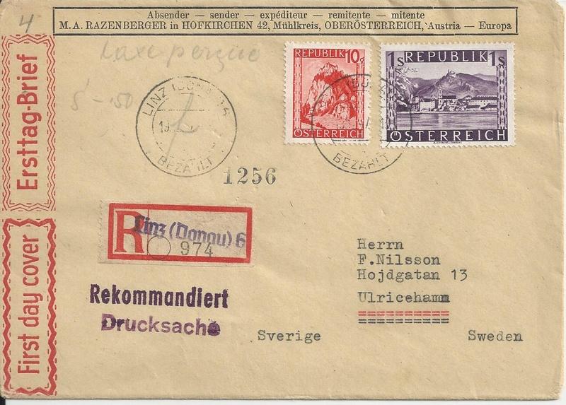 Österreich 2. Währungsreform 10.12.1947 - Belege Bild_314