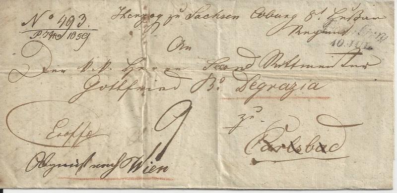 Vorphilatelie Österreich  -   Briefe aus der Vormarkenzeit - Seite 2 Bild_356
