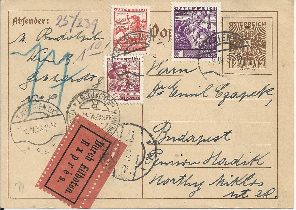 Bedarfspost Ganzsachen Österreich 1925-1938 Bild_376