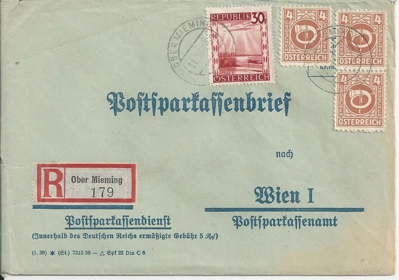 Posthornzeichnung  -  ANK 697-713  -  Belege - Seite 3 Bild_417