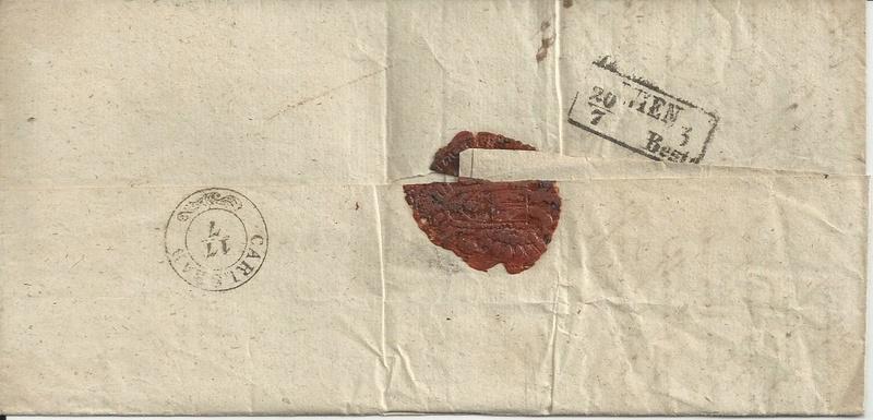 Nachtrag - Vorphilatelie Österreich  -   Briefe aus der Vormarkenzeit - Seite 3 Bild_449