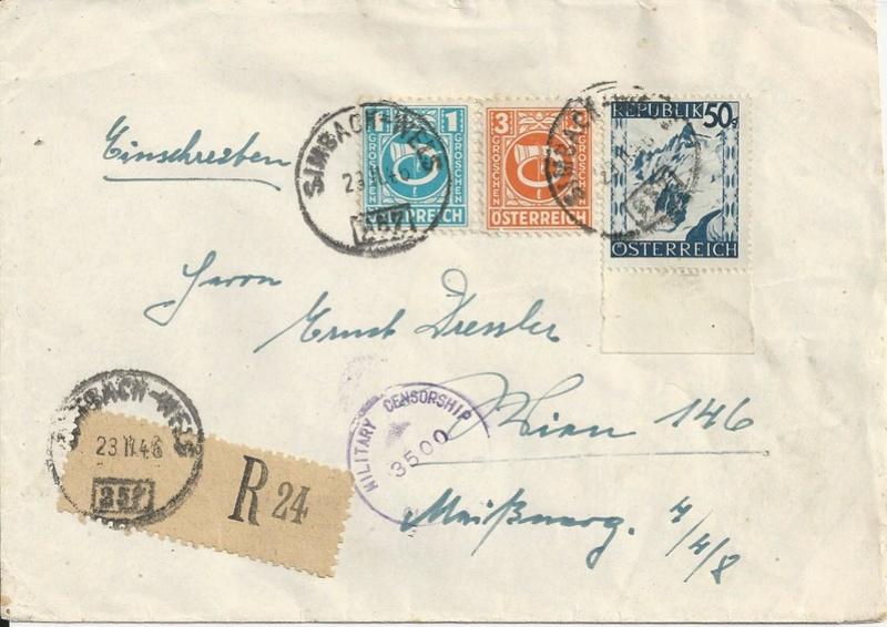 Posthornzeichnung  -  ANK 697-713  -  Belege - Seite 4 Bild_528