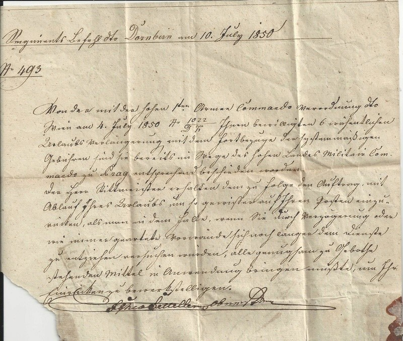 Vorphilatelie Österreich  -   Briefe aus der Vormarkenzeit - Seite 2 Bild_535