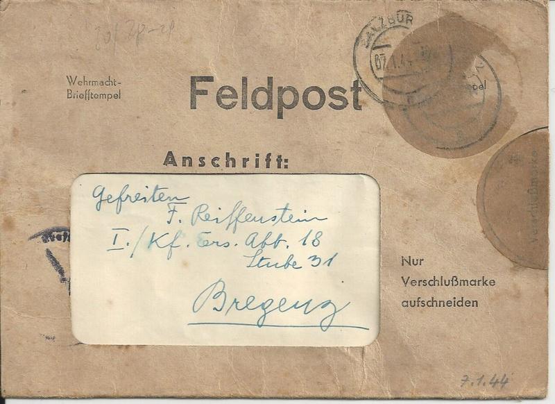 Feldpost II Weltkrieg Belege Bild_617