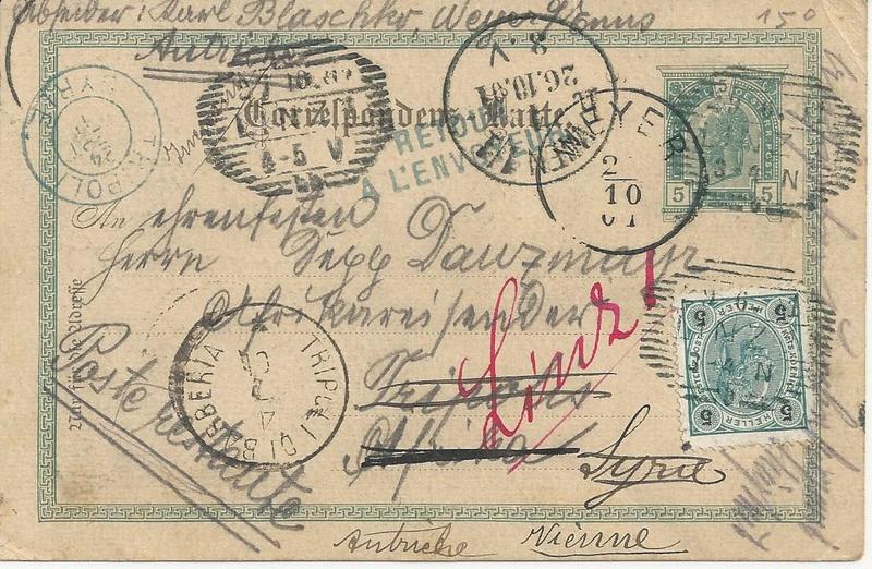 Irrläufer Belege Österreich // Sammlerpost International vor dem I. Weltkrieg Bild_714