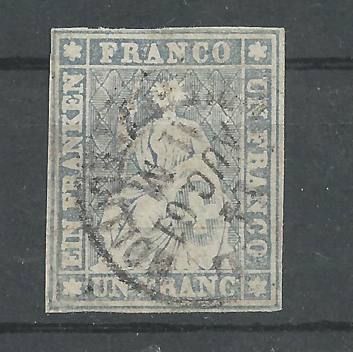 """Schweiz 1854-1863 """"Strubel"""" Sitzende Helvetia Ungezähnt Bild_715"""