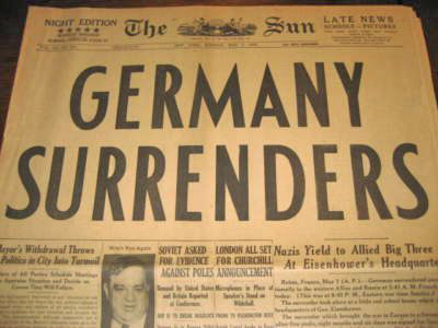 German surrender 75 years ago German10