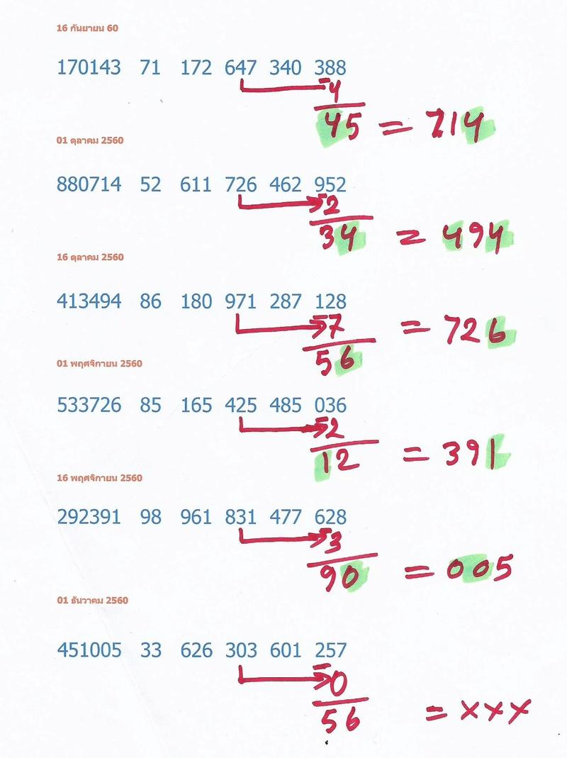 Thai Lottery Free Tips 16-12-17 16-12-10