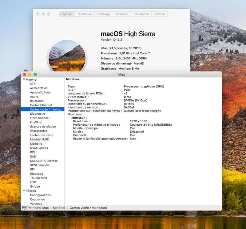 10.13.2 sur HP Omen i7 7700; GTX1060 Captur10
