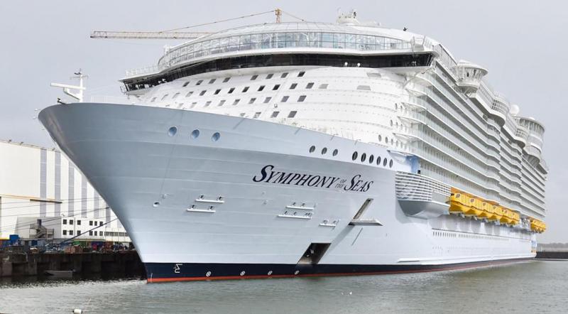 Le «Symphony of the Seas», plus gros paquebot du monde, quitte Saint-Nazaire 76264411