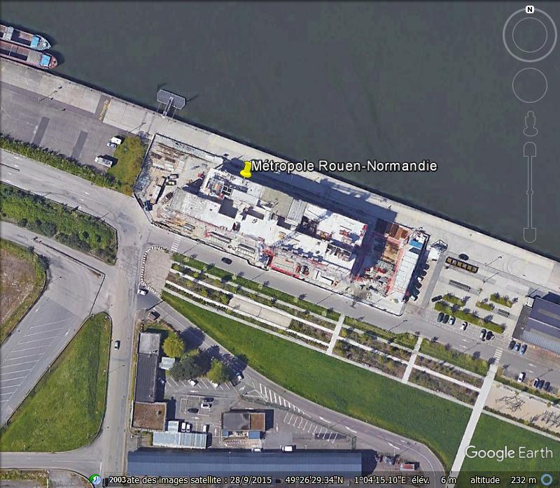 [Bientôt visible sur Google Earth] L'immeuble Metropole Rouen-Normandie - Rouen - Seine Maritime - France Www43