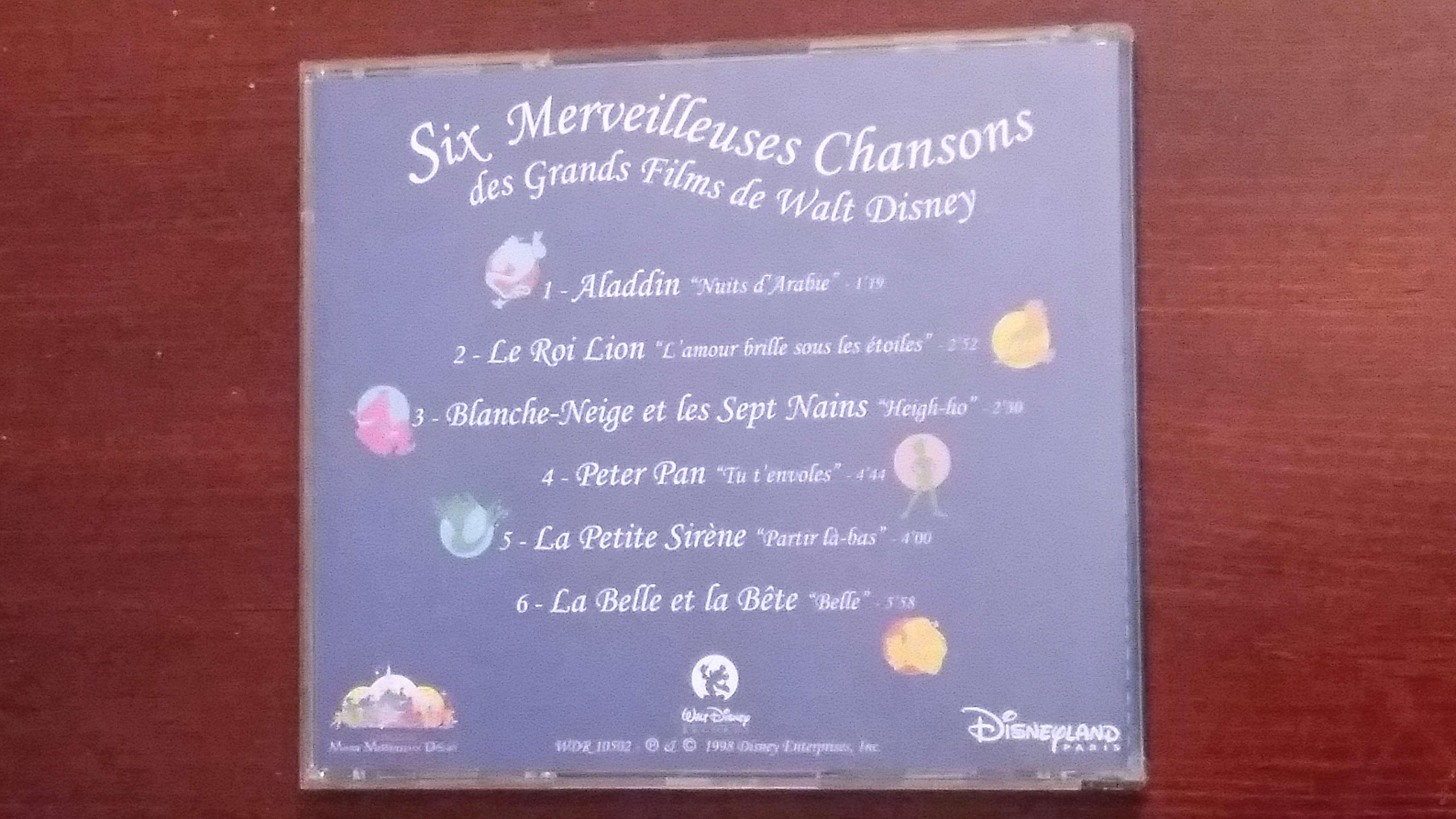 Cd Six Merveilleuses Chansons  20180516
