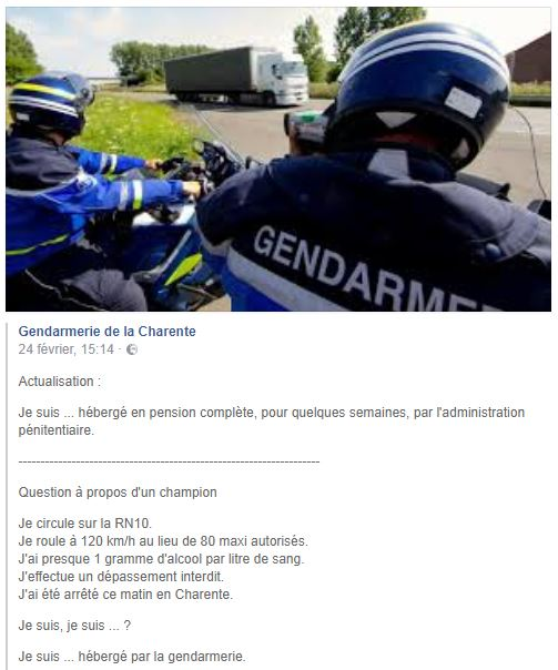 Du côté de la Gendarmerie... en Charente. Charen15