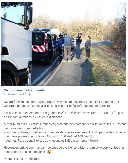 Du côté de la Gendarmerie... en Charente. Charen16