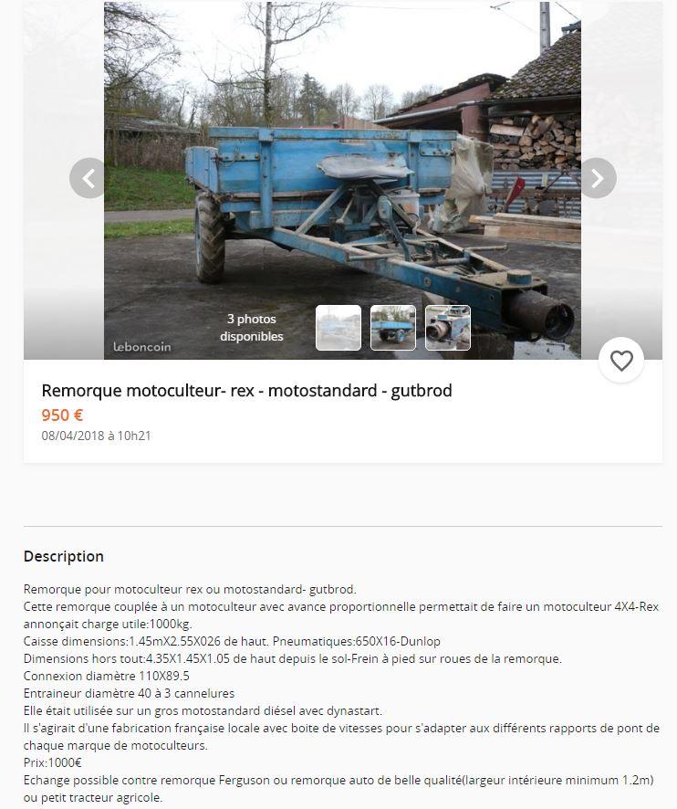 remorque - remorque motrice REX Motostandard Gutbrod Remorq11