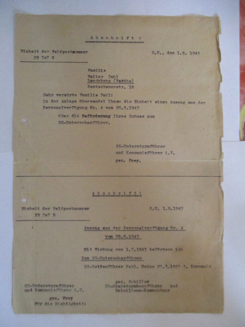 documents SS dont un de la Leibstandarte Adolf Hitler  Img_8371
