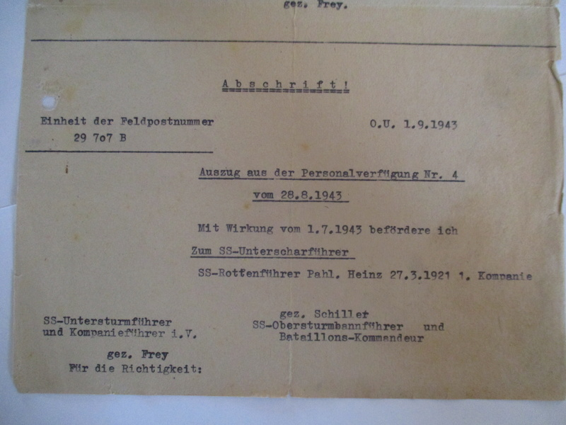 documents SS dont un de la Leibstandarte Adolf Hitler  Img_8373