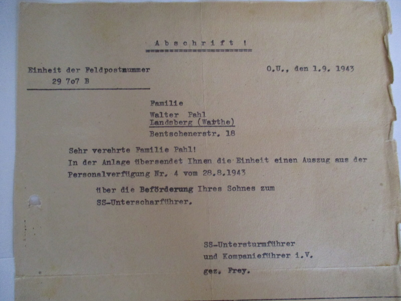 documents SS dont un de la Leibstandarte Adolf Hitler  Img_8375