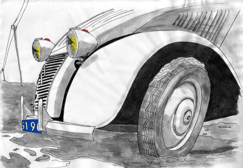 Citroën en dessin Azlbel10