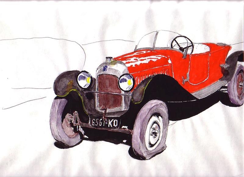 Citroën en dessin Caddy210