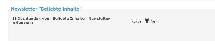 """[Neue Funktion] """"Beliebte Inhalte""""-Newsletter Unbena13"""