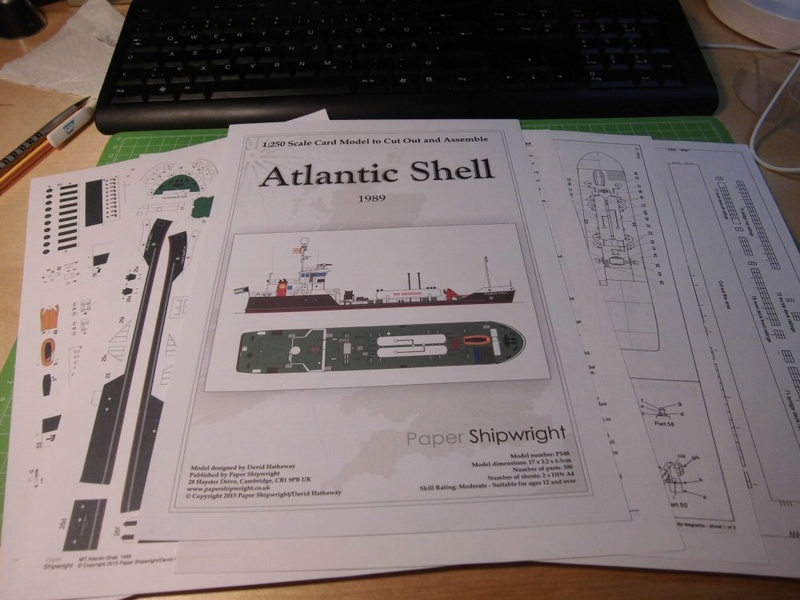 Atlantic Shell von Paper Shipwright 1:250 Cimg3515
