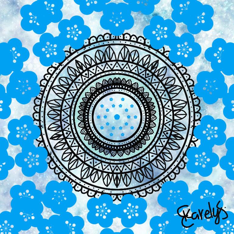mis dibujos de mándalas digitales Flower10