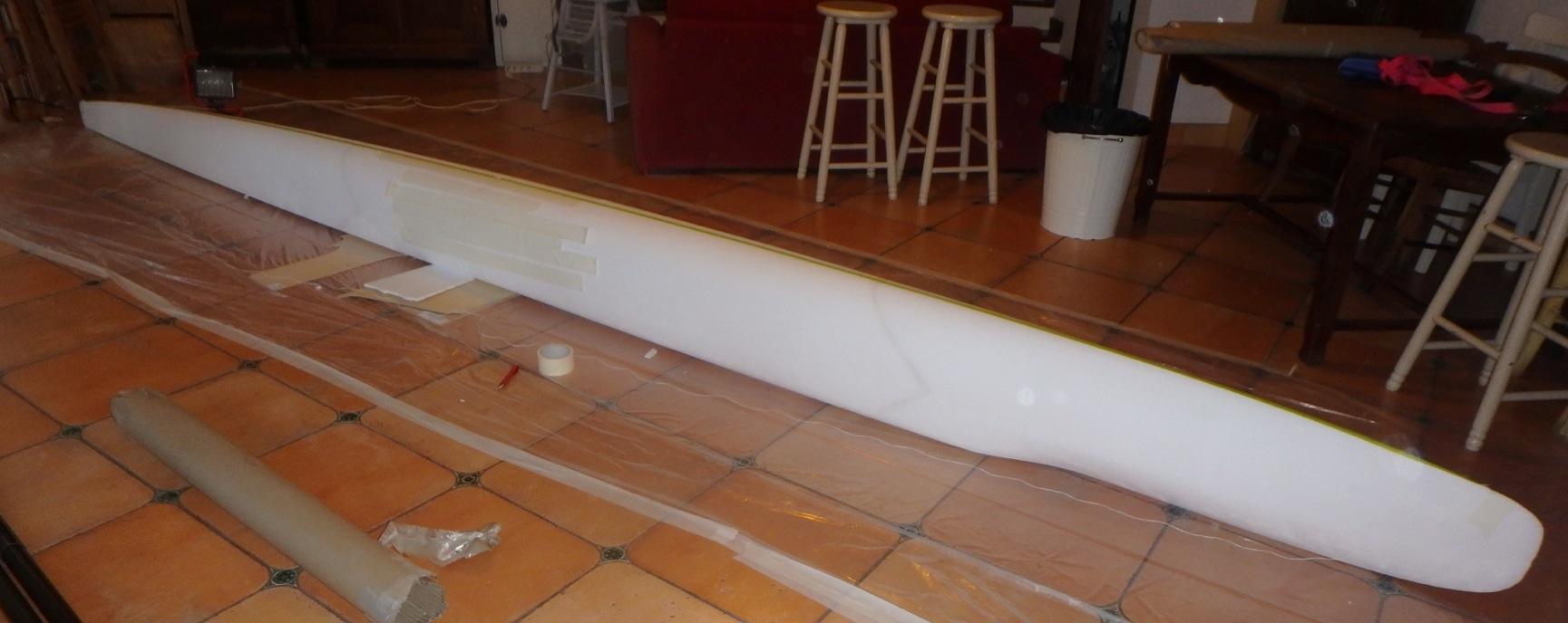 Construction d'un SUP trimaran Captur15
