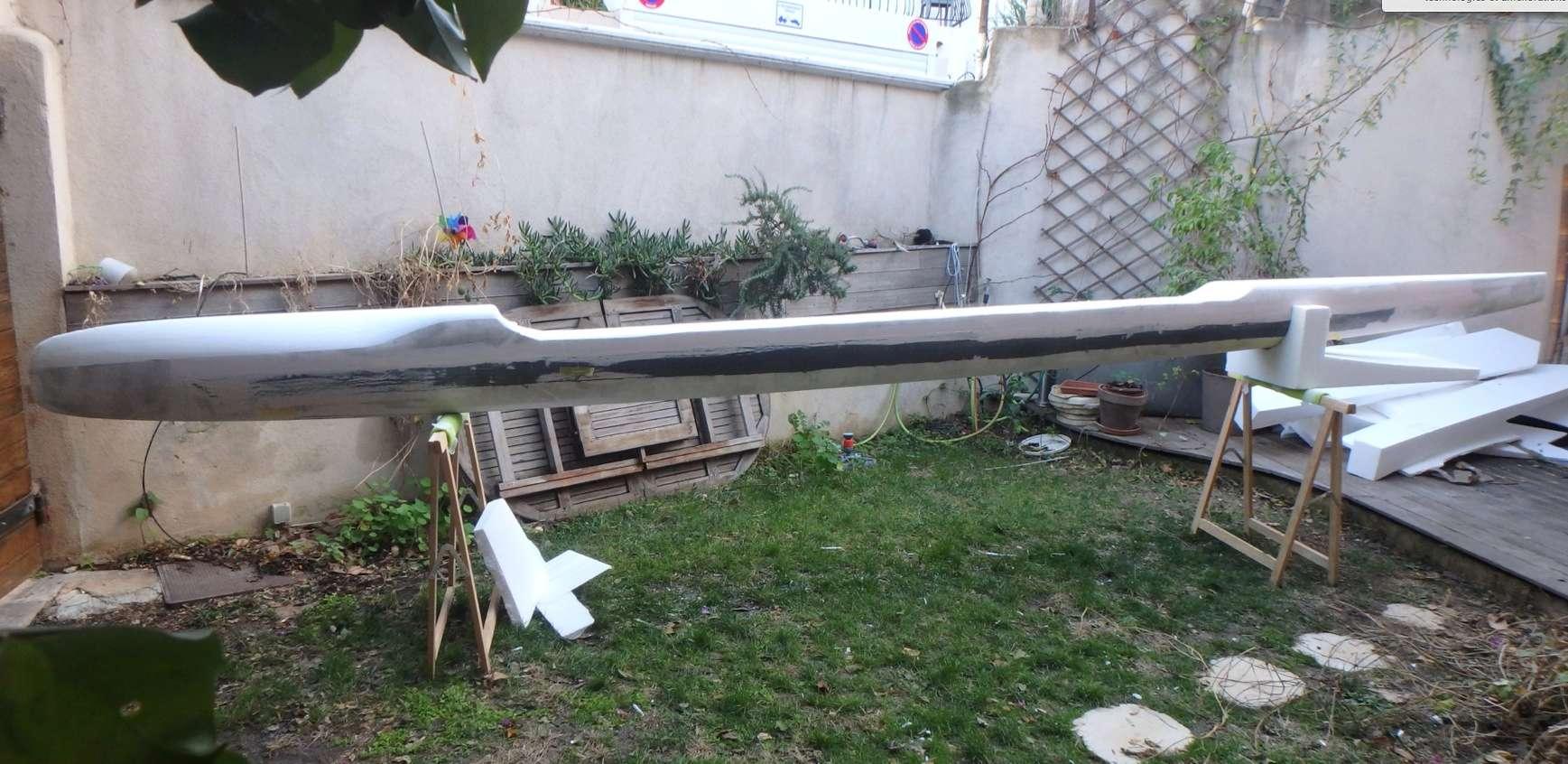 Construction d'un SUP trimaran Captur19
