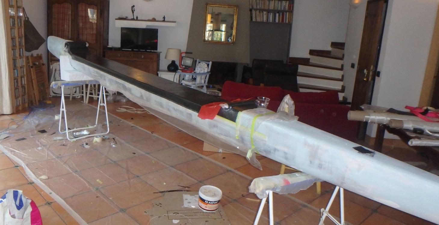 Construction d'un SUP trimaran Captur22