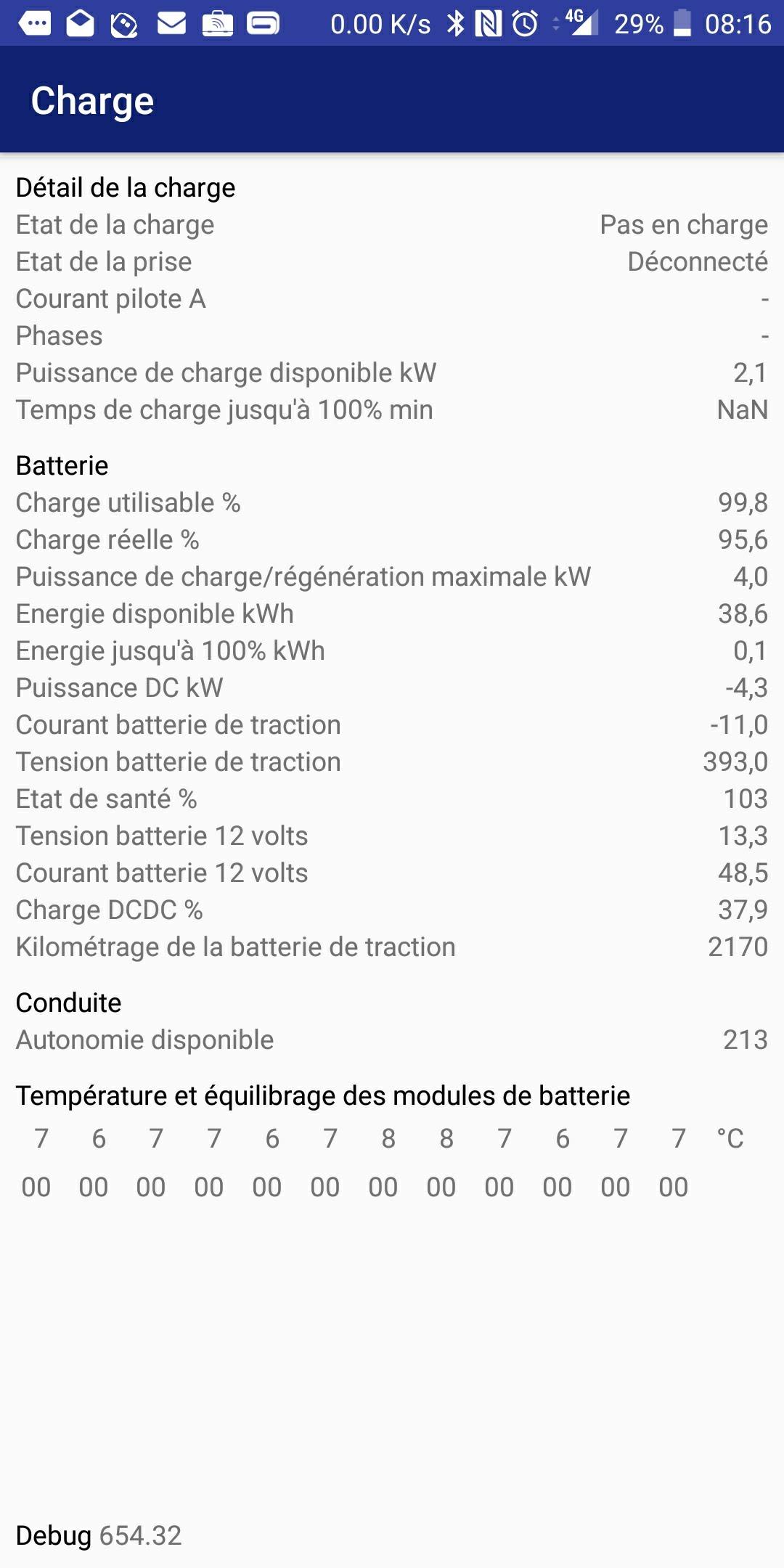 Consommation réelle en kWh pour recharge ZOE Screen11