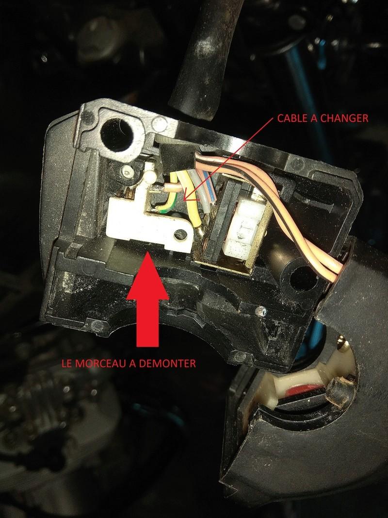 Démontage bouton START Cable11