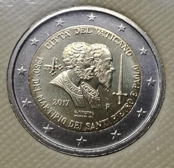 2 Euros Vaticano 2017 - San Pedro y San Pablo Whatsa12