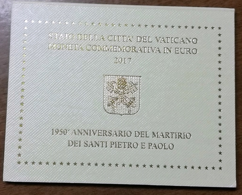 2 Euros Vaticano 2017 - San Pedro y San Pablo Whatsa14