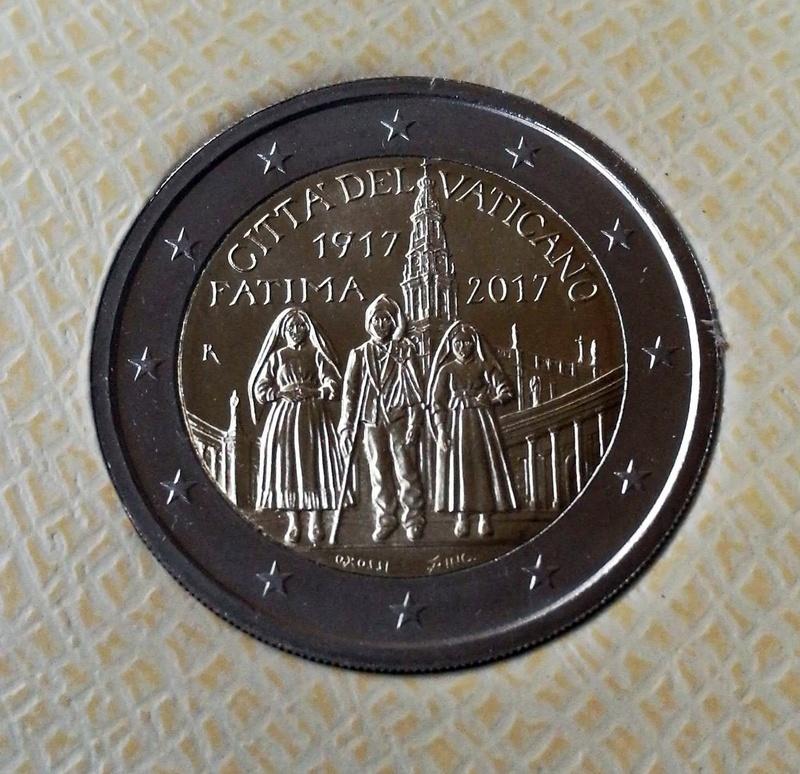 2 Euros Vaticano 2017 - Fátima Whatsa15