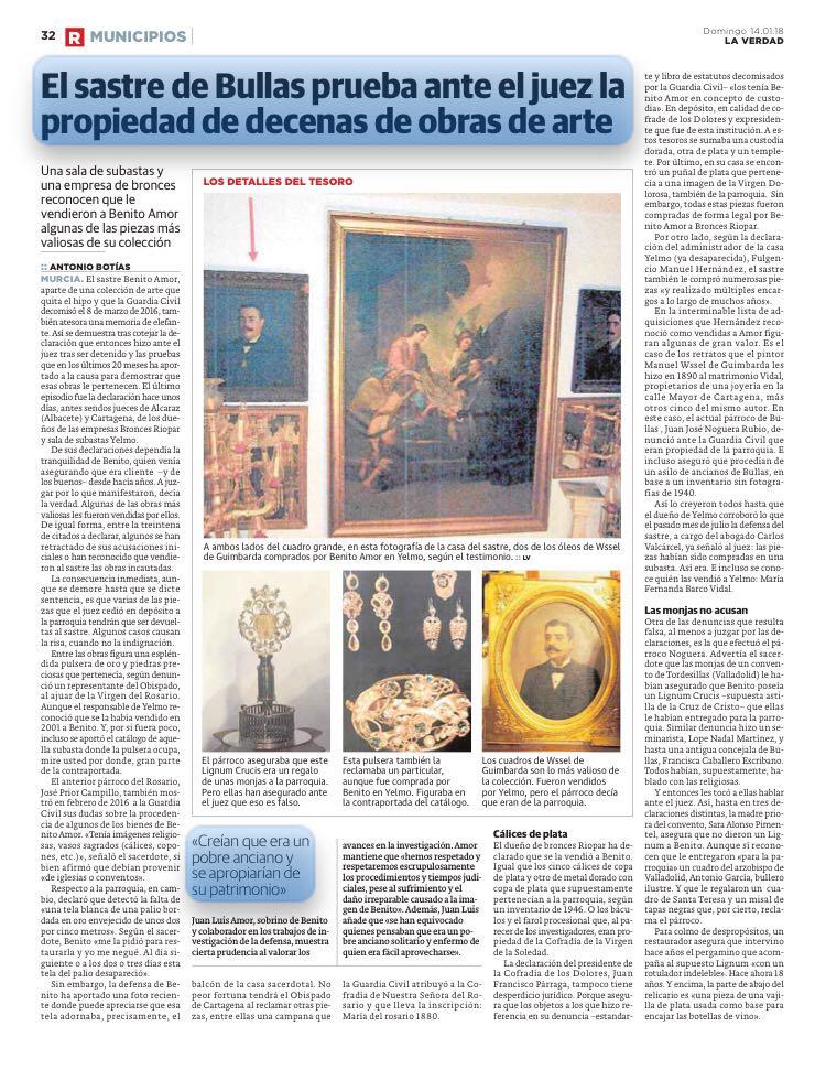 Sastre de Bullas prueba la propiedad de decenas de obras de arte Whatsa26
