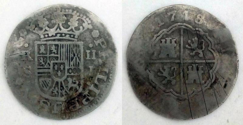 2 Reales Sevilla 1718 - ¿Dos falsas de época del mismo cuño? Opiniones Whatsa29