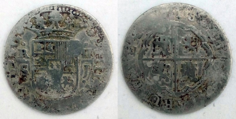 2 Reales Sevilla 1718 - ¿Dos falsas de época del mismo cuño? Opiniones Whatsa30