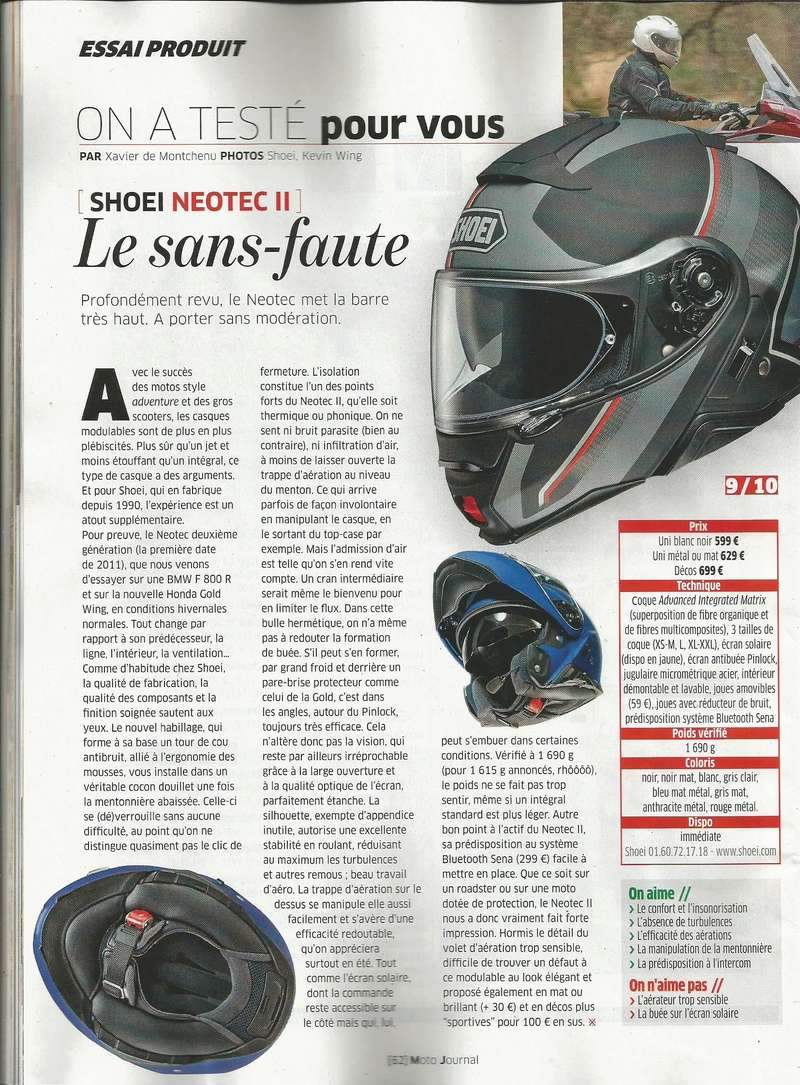 [Modulable] Casque Shoei Neotec II Mj113
