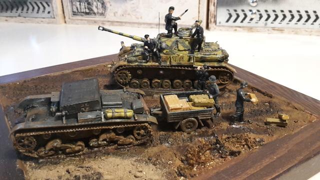 AUFTANKEN (ravitaillement)-Pz.Kpfw 4 + T-26(r) transport de munitions - Russie 1942 - 1/72 01-03-11
