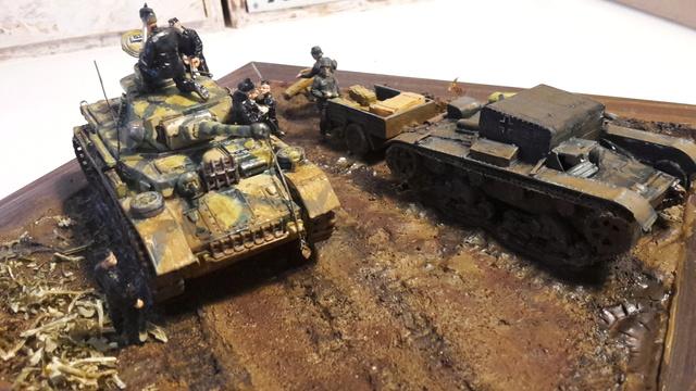 AUFTANKEN (ravitaillement)-Pz.Kpfw 4 + T-26(r) transport de munitions - Russie 1942 - 1/72 01-03-12